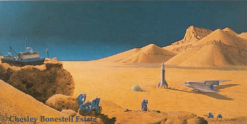 illustration de Chesley Bonestell