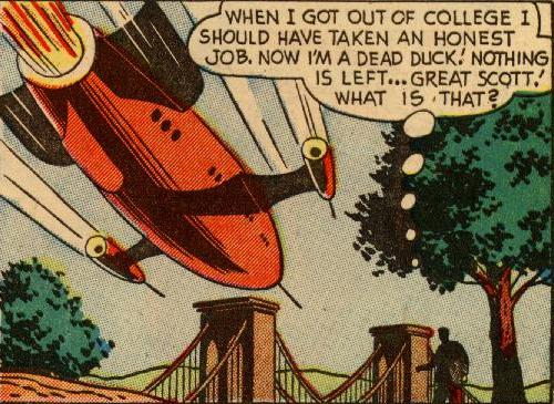 Mystery in Space 9 (aout-sept.1952) script: Mann Rubin; art: Howard Sherman