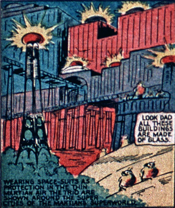 mitey powers et les martiens superworld comics 1940